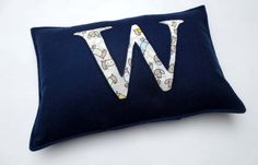 CUSTOM alphabet/ initial cushion cover. abc  name cushion for nursery/ bedroom/ couch/ bed you choose colours! ** FREE POST
