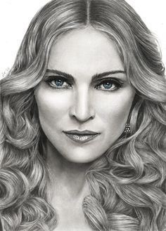 """( MUSIC ♪♫♪♪ 2016 ★ MADONNA """" Pop / dance / electronica / rock """" Madonna by akaLilith on """" ) ★ ♪♫♪♪ Madonna Louise Ciccone - Saturday, August 1958 - - Bay City, Michigan, USA. """" Madonna by akaLilith on """" Cool Pencil Drawings, Amazing Drawings, Realistic Drawings, Pencil Art, Easy Drawings, Pencil Sketching, Amazing Art, Drawing People Faces, Drawing Women"""