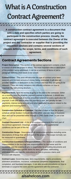 A Construction Contract Agreement Is The Document That Sets A Date