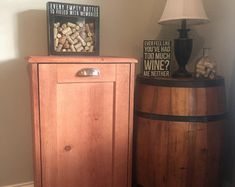 Wood Trash Can, Recycling Bin, Storage Bin, Solid Pine Garbage Can Laundry Hamper, Storage, Trash Barrel, Solid Pine, Storage Organization, Wood Trash Can, Handmade Wooden, Wooden Bins, Storage Bin