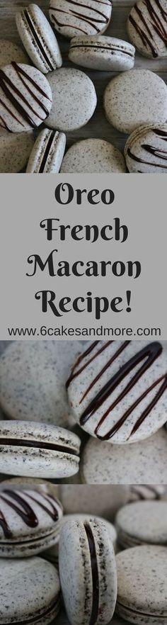 Oreo French Macarons! #oreo #macarons #frenchmacarons #recipe