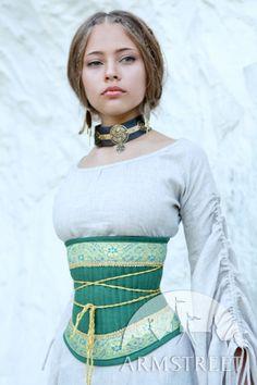 Medieval Renaissance Flax Corset Belt Mistress Of The Hills. $113.00, via armstreet on Etsy.
