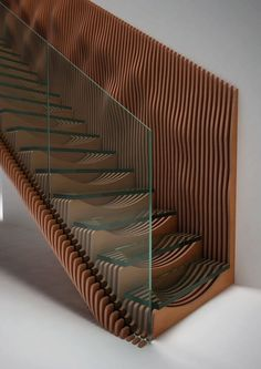 Stairs latest concept design, Slice, featuring glass treads and a TransParancy balustrade. Interior Stairs, Interior Architecture, Interior Design, Staircase Architecture, Timber Staircase, Open Staircase, Grand Staircase, Architecture Details, Escalier Design