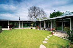 new-build, L-plan bungalow on sloping site - nr. Bath - David Hadfield