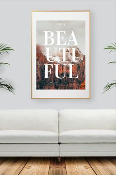 Colorful Wall Art, Wall Colors, Decoration, Life Is Beautiful, All Print, Collection, Unique Jewelry, Handmade Gifts, Prints