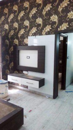 Lcd Unit Design, Lcd Wall Design, Tv Unit Furniture Design, Bedroom Furniture Design, Bed Furniture, Furniture Storage, Kitchen Furniture, Tv Unit Decor, Tv Wall Decor
