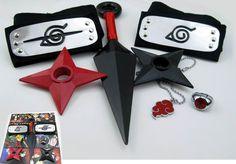 Naruto Headband Kunai Ring Necklace NAHK1579