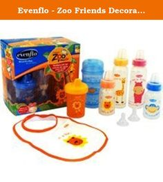 Evenflo - Zoo Friends Decorated Bottle Gift Set, BPA-Free. The Zoo Friends Gift Set is a fun, bright and exciting set of bottles featuring favorite characters. The friendly characters teach kids about different colors and animals. •Perfect for gift giving at an affordable price •Assorted colors and graphics are fun for mom and baby •Graphics include Monkey, Lion, Giraffe and Hippo •Includes assorted feeding accessories to meet all feeding needs •Includes bottles, bib, food storage…