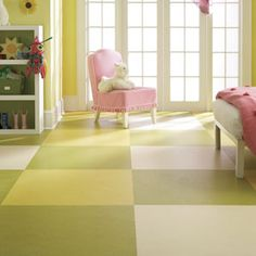 Like the larger scale pattern rather than small checkerboards - Marmoleum-Click.jpg  VCT floor