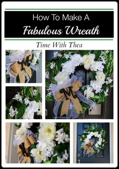 How To Make A Fabulous Wreath ~ A step-by-step photo tutorial showing how to make this DIY wreath that will look gorgeous on any front door.