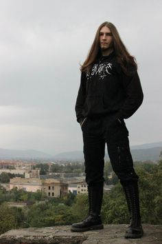 """longhairappreciationsociety: """"Those boots though """" longhairappreciationsociety: """"Diese Stiefel Black Metal, Beautiful Men, Beautiful People, Cute White Guys, Goth Guys, Outfits Hombre, Extreme Metal, Boys Long Hairstyles, Draw On Photos"""