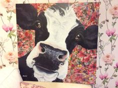 Cows and flowers by DizzyfairyBySarah on Etsy