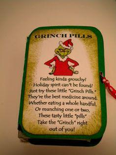 Scrapcation Getaway: Grinch Pills --Free Scut File match box, scut file, grinch pill, grinch christma, christma idea