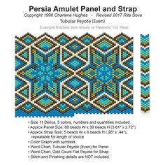 Persia Amulet Panel and Strap | Bead-Patterns.com