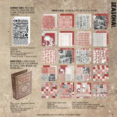 """Tim Holtz idea-ology's paper collection Merriment and worn book cover """"Christmas Wishes"""" are now on my Wish List."""