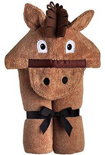 Whoa there! You're looking at the perfect gift for the wee cowboy and cowgirls on your shopping list pardner! This terry tan hooded towel has an appliqued face and polar fleece mane. Sewing Projects For Kids, Sewing For Kids, Diy For Kids, Sewing Ideas, Sewing Diy, Diy Projects, Kids Hooded Towels, Hooded Bath Towels, Hooded Towel Tutorial
