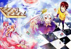 Tags: Anime, Pixiv Id 3049224, No Game No Life, Jibril (No Game No Life), Stephanie Dora, Shiro (No Game No Life), Sora (No Game No Life)