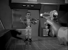 Image from the 1960's Gerry Anderson television series, FIREBALL XL5.