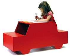 It's a car!  It's a desk!  It's... on a French website, so I don't really know that much about it, but it's cute!