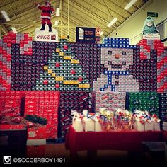 You know the holidays are close when... ⛄️ #CocaCola #Snowman #Santa #Tree #Holiday #MyCokeRewards
