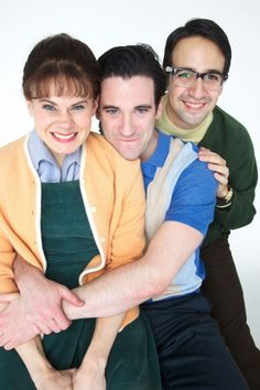 Celia Keenan-Bolger, Colin Donnell, and Lin-Man promoting Merrily We Roll Along in a cuter cast photo than should ever be allowed