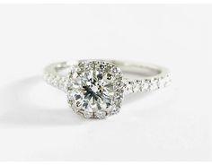 0.72 Carat Diamond Cushion Halo Diamond Engagement Ring | Recently Purchased | Blue Nile