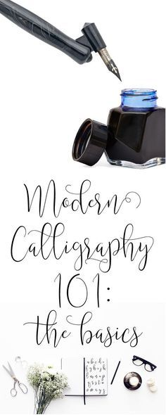 Modern Calligraphy 101: The Basic Supplies you'll need to get started with practicing + free practice sheets! | dawnnicoledesigns.com                                                                                                                                                                                 More