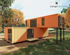 Shipping containers 753297475147096622 - Casa container laranja Source by abadiemanuelito Cargo Container Homes, Storage Container Homes, Building A Container Home, Container Buildings, Container Architecture, 40 Container, Container Cabin, Sustainable Architecture, Shipping Container Home Designs