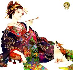 Art style research Cool Anime Girl, Anime Art Girl, Korean Art, Asian Art, Momiji Doll, Anime Kimono, Geisha Art, Japan Woman, Japanese Outfits