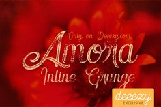 Amora Inline Grunge Font – Deeezy – Freebies with Extended License