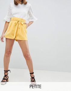 Short jupe culotte jaune - inspiration patron couture short Mouffetard A&A Petite Shorts, High Waisted Shorts, Short Dresses, Asos, Stuff To Buy, Inspiration, Image, Fashion, Moda