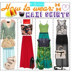 """""""How to wear: maxi skirt's"""" by tipgirlsofpolyvore on Polyvore"""
