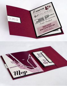 Destination wedding invitation booklets