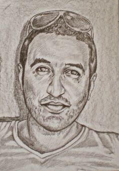 AtrebArt: Ritratto eseguito con tecnica mista su cartoncino