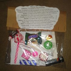 Nurses day gifts bag of candy include a snicker peppermint nurse appreciation week gift idea solutioingenieria Gallery