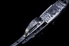 Hand engraved gun by Bill Oyster of Oyster Bamboo Fly Rods. Photo by David Cannon Bamboo Fly Rod, Fly Rods, Shotguns, Hand Engraving, Cannon, Oysters, David, History, Accessories