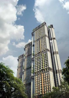 WOHA is a Singapore-based architecture practice, founded in 1994 by Wong Mun Summ and Richard Hassell. Evergreen Climbing Plants, Evergreen Vines, Futuristic Architecture, Facade Architecture, Alila Villas Uluwatu, Future City, Hill Park, Condominium, Willis Tower