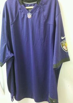NFL On Field Baltimore Ravens Jersey Men's Size 4XL Authentic Nike