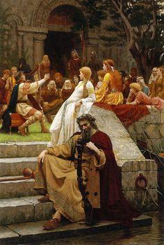 The Fame - Il titolo del dipinto di Edmund Blair Leighton si ispira ad un ambiente di corte altomedievale e i costumi sono quelli tipici delle corti altomedievali francesi dei secoli dal X al XII secolo.