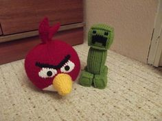 Angry bird and minecraft