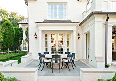 New Ideas For House Exterior Ideas Brick Patio House Design, House, Home, Outdoor Rooms, House Exterior, Exterior Design, Beautiful Homes, Painted Brick, Exterior