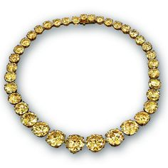 Jacob & Co. 'Yellow Diamond Riviera Necklace' with Diamond necklace with white diamonds totaling 161.52 carats handmade in 18K yellow gold