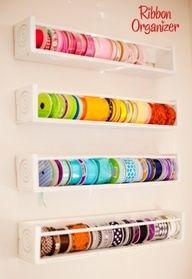 Środowe myki: organizacja wstążek i sznurków