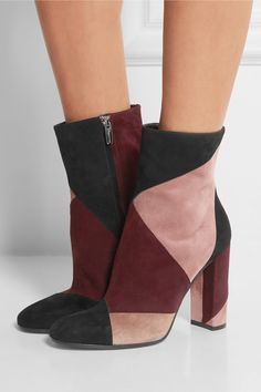 Gianvito Rossi | Patchwork suede ankle boots