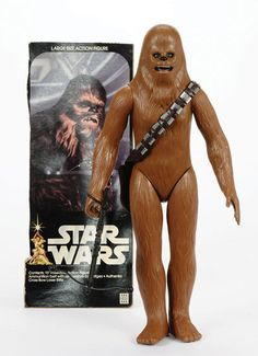 "Denys Fisher Star Wars Vintage Chewbacca 15"" figure, 1977, complete with Crossbow Rifle, Bandolier with 16 removable grey plastic inserts"