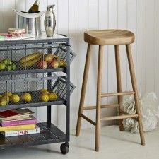 a beautifully considered oak stool at tall itu0027s an ideal height for a breakfast bar