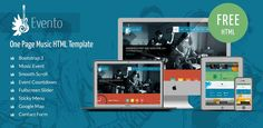 Free Music Event Bootstrap Template.