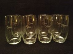 Northwest Airlines EIGHT First Class Cabin Wine Glasses with new NWA logo