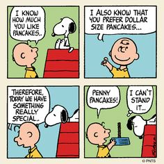 Breakfast for Snoopy. Charlie Brown and Snoopy ♥ Snoopy Comics, Snoopy Cartoon, Peanuts Cartoon, Peanuts Snoopy, Peanuts Comics, Snoopy Quotes, Charlie Brown And Snoopy, Snoopy And Woodstock, Cartoon Characters