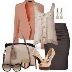 Church or work attire Work Fashion, Fashion Looks, Fashion Outfits, Womens Fashion, Fashion Trends, Business Outfit, Business Fashion, Dressy Outfits, Cute Outfits